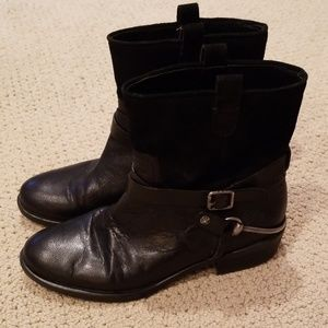 Franco Sarto black boots like new